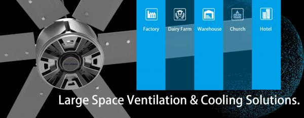 How do you know about large commercial hvls ceiling fans used for churches&warehouses? | RTFANS